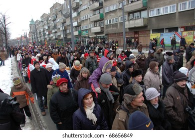 WROCLAW, POLAND - JANUARY 6: Epiphany holiday in Christian religion. Traditional procession, reconstruction of visit of the Magi to the infant Jesus on January 6, 2011.