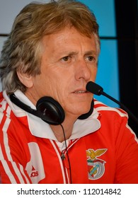 WROCLAW, POLAND - JULY 20: Jorge Jesus at the press conference and draw pairs of semi-final footballtournament Polish Masters, on July 20, 2012 in Wroclaw, Poland.