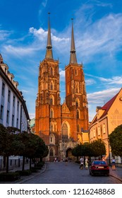 WROCLAW, POLAND - JULY 29, 2014: Cathedral of St. John in Wroclaw, Poland on July 29, 2014. Wroclaw old and a very beautuful city in Poland