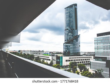 Wroclaw, Poland- July 3,2020; Picture of Sky Tower in Wroclaw,