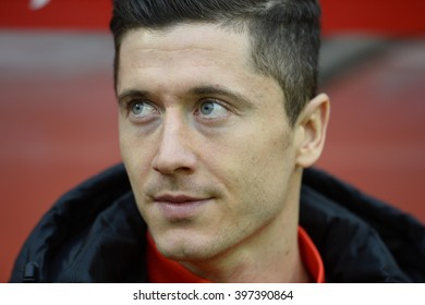 WROCLAW, POLAND, MARCH 26,  2016: Inernational Friendly football game Poland - Finland