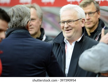 WROCLAW, POLAND, MARCH 26,  2016: Inernational Friendly football game Poland - Finlando/p Hans Becke coach Adam Nawalka coach