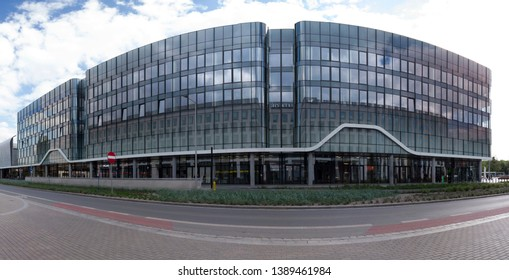 WROCLAW, POLAND - MAY 03, 2019: Wroclavia Shopping Center in Wroclaw near Main Railway Station (Wroclaw Glowny) and Main Bus Station. A unique architectural project.