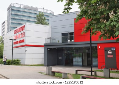 WROCLAW, POLAND - MAY 11, 2018: Politechnika Wroclawska (Wroclaw University of Science and Technology) in Poland. There are 11 public universities in Wroclaw.