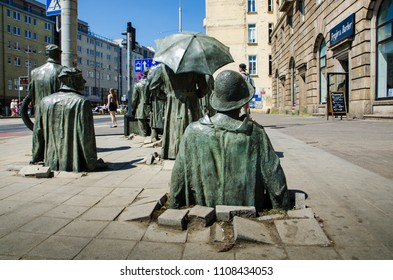 Wroclaw, Poland - MAY 15th 2018:  The monument of an anonymous passerby.