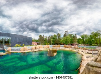 WROCLAW, POLAND - MAY 20, 2019: The Wroclaw Africarium (Polish: Afrykarium) is the only themed oceanarium devoted solely to exhibiting the fauna of Africa. Is a part of the Zoo in Wroclaw, Poland.