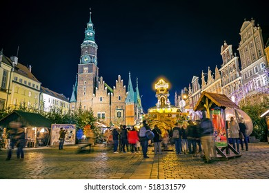 WROCLAW, POLAND - NOVEMBER 18, 2016: Openning of Christmas Holiday Fair in Wroclaw