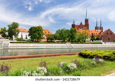 Wroclaw in Poland. Old quater with gothic architecture