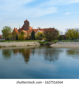 Wroclaw, Poland. View of Sand Island or Wyspa Piasek on the Oder river. - Shutterstock ID 1627516564