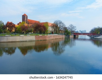 Wroclaw, Poland. View of Sand Island or Wyspa Piasek on the Oder river. - Shutterstock ID 1634247745
