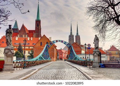 Wroclaw in winter, Poland