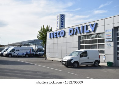 Wroclaw,Poland. 10/16/2019: Iveco Daily car shop