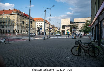 Wroclaw,Poland- July 24,2020; Picture of Wroclaw city centre and Capitol theatre.