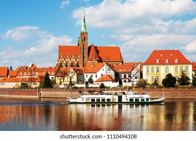 Wroclaw.Poland.View from Odra river.