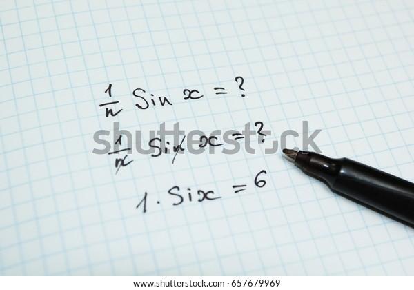 Wrong Funny Solution Problem Mathematics Stock Photo (Edit