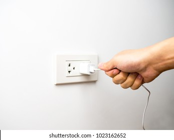 Wrong way pulling plug, unplug from socket by pulling wire