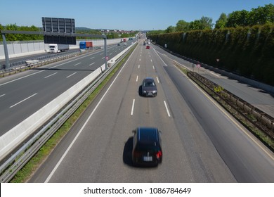 Wrong-way driver or wrong-hand driver on a ghost ride at a highway