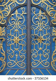 Wrought iron door decoration closeup. More of this motif & more decors in my port.