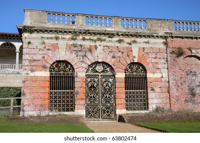 wrought Iron door and windows to a medieval building