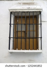 Wrought Iron Grill or bars on Window in Alora, Andalusia