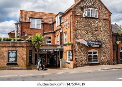 Wroxham, Norfolk, UK – June 01 2019. The Kings Head Pub in the village of Wroxham, Norfolk