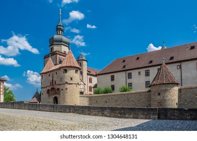 WUERZBURG, GERMANY - CIRCA AUGUST, 2018:  The fortress Festung Marienberg of Wuerzburg in Germany