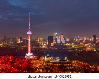 Wuhan city skyline scenery in Wuahn, Hubei, China