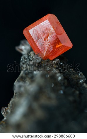 Wulfenite Red Cloud Mine Silver District Stock Photo (Edit