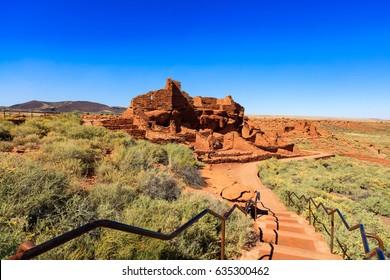 The Wupatki native american ruins located near Flagstaff, Arizona.