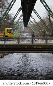 wuppertal, germany - 23 january 2014: Wuppertal Hanging Train way