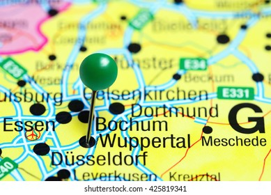 Gelsenkirchen Germany Map.Gelsenkirchen Pinned On Map Germany Stock Photo Edit Now 425819368