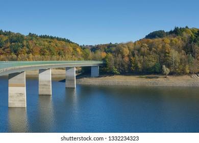 Wuppertalsperre Reservoir in Bergisches Land near Remscheid,North rhine westphalia,Germany