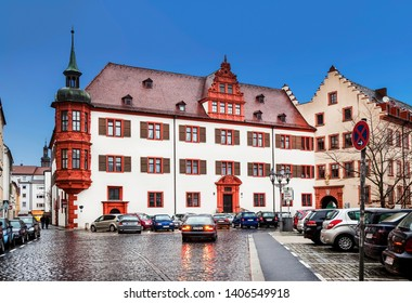 WURZBURG, GERMANY - DECEMBER 23, 2012: Cityscape with ancient houses in Wurzburg, Bavaria, Germany