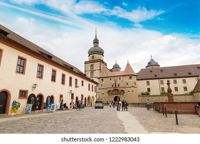WURZBURG, GERMANY - JUNE 18, 2016: Marienberg Fortress in Wurzburg in a beautiful summer day, Germany on June 18, 2016