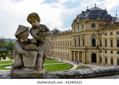 WURZBURG, GERMANY - MAY 1: The Wurzburg Residence in Wurzburg, Germany on may 01, 2016. The Wurzburg Residence was inscribed in the UNESCO World Heritage List in 1981