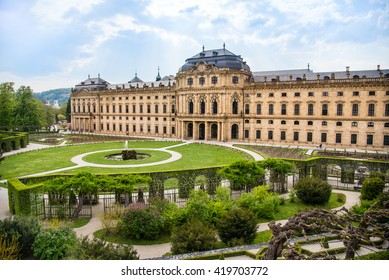 WURZBURG, GERMANY - MAY 5: The Wurzburg Residence in Wurzburg, Germany on may 05, 2016. The Wurzburg Residence was inscribed in the UNESCO World Heritage List in 1981.