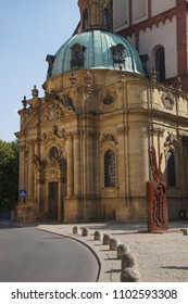 WURZBURG, GERMANY - SEP 12, 2016 -  Late Gothic Marienkapelle Church of Our Lady,  Wurzberg, Germany