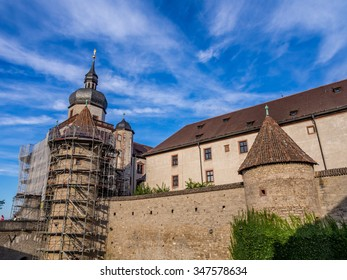 WURZBURG, GERMANY - SEP 28: Marienberg Fortress in Wurzburg, Germany on September 28, 2013. Wurzburg is a city in the region of Franconia, Northern Bavaria, Germany.