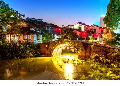 Wuxi night scene, famous water town in China