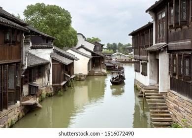 WUZHEN, CHINA, 2013 Juni 23: A beautiful view of Wuzhen, China