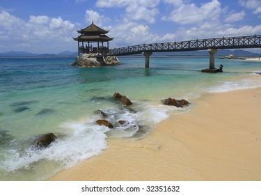 Wuzhizhou Beach in Sanya