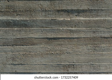 WW2 concrete, Jersey, U.K. Woodgrain patterns of a bunker wall.