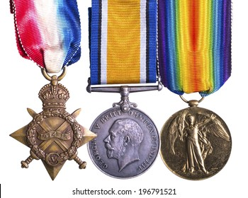 WWI campaign medal known as Pip Squeak and Wilfred - 1914-1915 Star, The British War Medal and the Allied Victory Medal