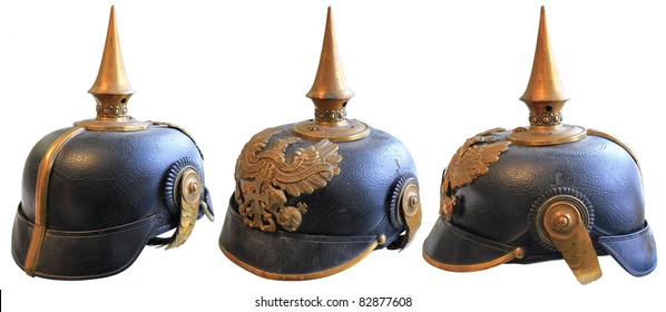 WWI LEATHER GERMAN SPIKED PRUSSIAN HELMET