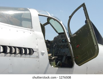 WWII plane cockpit