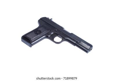 WWII Soviet handgun TT (Tula,Tokarev) isolated on white background