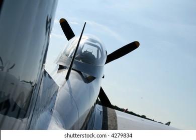 WWII USAF warbird from behind