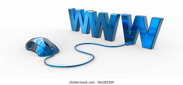WWW with computer mouse / www