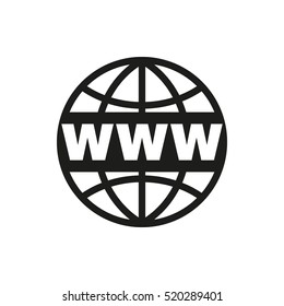 The WWW icon. SEO and browser, development symbol. UI. Web. Logo. Sign. Flat design App Stock