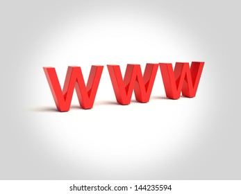 www letters on the white background